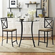 Valerie 3 Piece Counter Height Dining Set