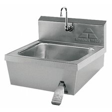 "Hands Free 17.25"" x 21.25"" Single Hand Sink with Faucet"