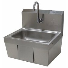 "17.25"" x 15.25"" Single Hands Free Hand Sink"