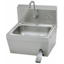 "17.25"" x 15.25"" Single Hands Free Hand Sink with Faucet"