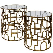 Trellis 2 Piece End Table Set