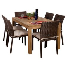 Amazonia Brownsville 7 Piece Outdoor Dining Set With Cushions