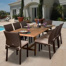 Amazonia Lens 9 Piece Dining Set With Cushions