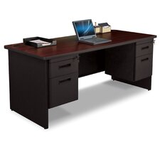 Pronto Executive Desk with Box / File and Double File