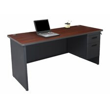 Pronto Computer Desk with Left Single Pedestal