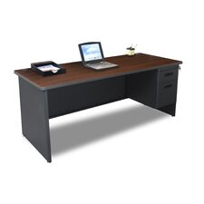 Pronto Computer Desk with 2 Right Drawers and Lock