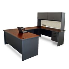 Pronto U-Shape Executive Desk with Door