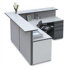 Large L-Shape Reception Desk