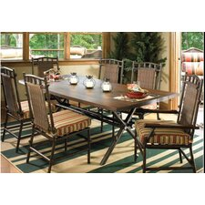 Chatham Run Rectangular Dining Table with Faux Wood Top
