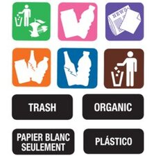 8 Piece Recycle Label Kit
