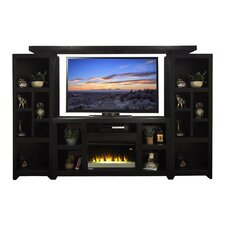 Skyline Entertainment Stand with Electric Fireplace