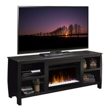Curve TV Stand with Electric Fireplace