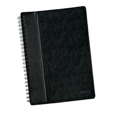 "11.75"" x 8.25"" Textured Leatherette Wire O Legal Rule Notebook (Set of 80)"