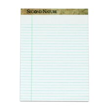 Second Nature 20 lbs Blank Back Legal Pad (Set of 48)