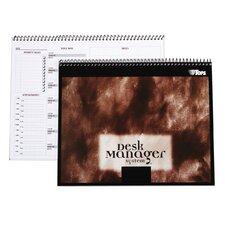60 pt. Desk Manager Multi Tasking Wirebound Notebook (Set of 24)