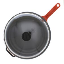 Chasseur 11-inch French Enameled Cast Iron Fry pan with Glass Lid