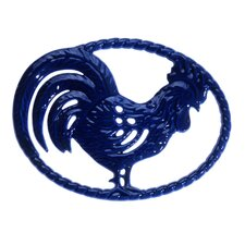 Chasseur 11-inch French Cast Iron Rooster Trivet