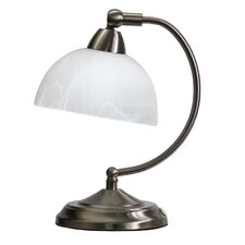 """Mini Modern Bankers 11"""" H Table Lamp with Bowl Shade"""