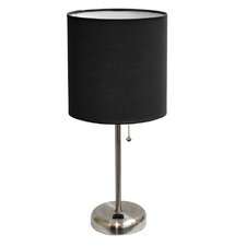 """Stick 19.5"""" H Table Lamp with Drum Shade"""