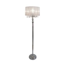Princess Floor Lamp with Sheer Drum Shade