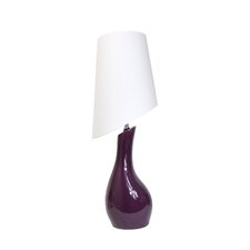 """Ceramic Curved 28.74"""" H Table Lamp with Empire Shade"""