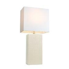 "Elegant Designs 21"" H Table Lamp with Rectangular Shade"