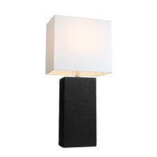 "Elegant Designs 21"" H Table Lamp with Rectangular Shade"