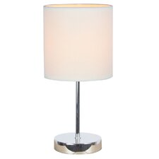 """Simple Designs Mini Basic 11.81"""" H Table Lamp with Drum Shade"""