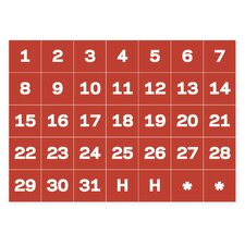 Calendar Dates Magnetic Tape