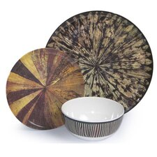 Melamine Tribal 3 Piece Place Setting