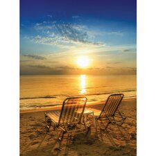 Outdoor Table for Two Photographic Print on Canvas