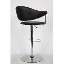 Airstream Adjustable Height Swivel Bar Stool with Cushion