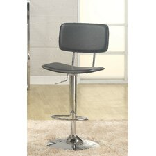 Lakeside Adjustable Height Swivel Bar Stool with Cushion