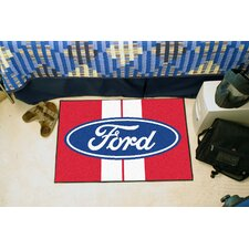 Ford Oval Red Stripe Area Rug
