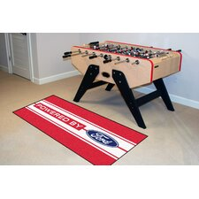 Ford Oval Red/White Stripe Area Rug