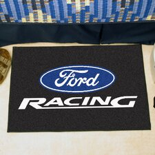 Ford Black Racing Area Rug