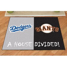 MLB Los Angeles Dodgers - San Francisco Giants House Divided Doormat