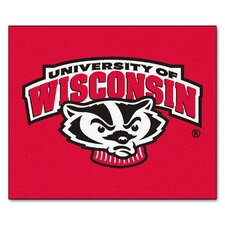 Collegiate Wisconsin Badger Tailgater Outdoor Area Rug