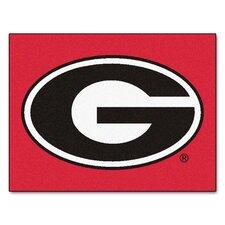 Collegiate All-Star Georgia - G Logo on Red Standard Mat Area Rug