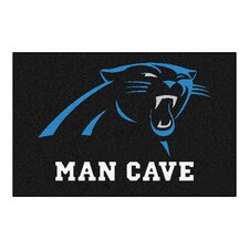 NFL Carolina Panthers Man Cave Starter Area Rug