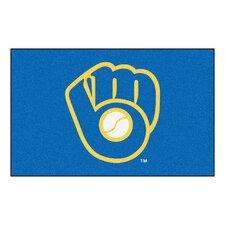 "MLB Milwaukee Brewers ""Ball in Glove"" Doormat"