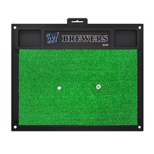 MLB Milwaukee Brewers Golf Hitting Doormat