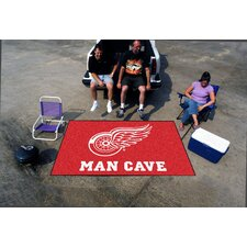 NHL Red Area Rug