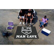 NHL Black Area Rug