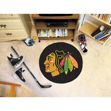 NHL Chicago Blackhawks Hockey Puck Doormat