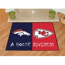 NFL Denver Broncos - Kansas City Chiefs House Divided Doormat