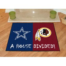 NFL Dallas Cowboys - Washington Redskins House Divided Doormat