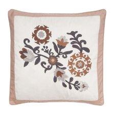 Genevieve Flower Cotton Throw Pillow