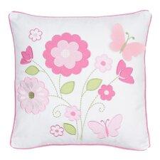Mariposa Appliqued Flowers Throw Pillow