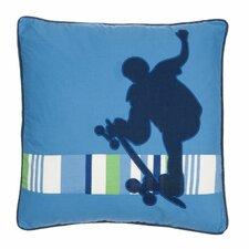 Born to Skate Applique Skateboarder Throw Pillow